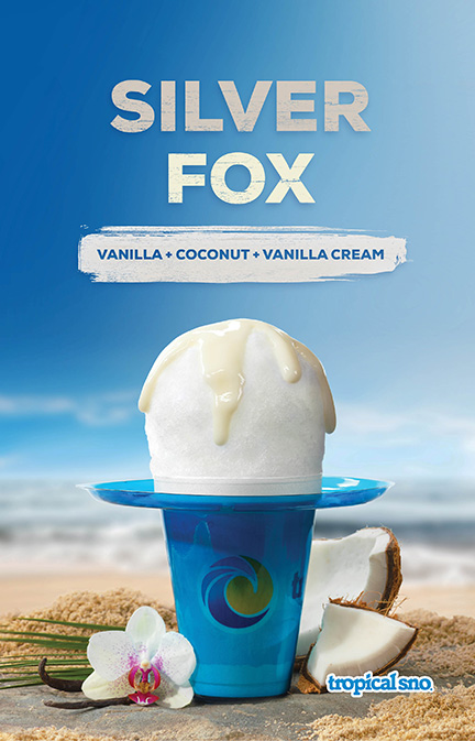 Tropical Sno Silver Fox Poster Design By Alexander Hofstetter