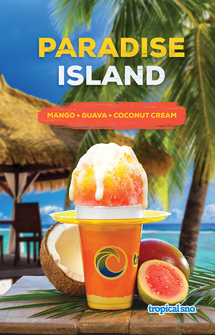 Tropical Sno Paradise Island Poster Design By Alexander Hofstetter
