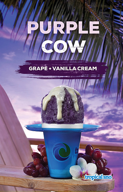 Tropical Sno Purple Cow Poster Design By Alexander Hofstetter