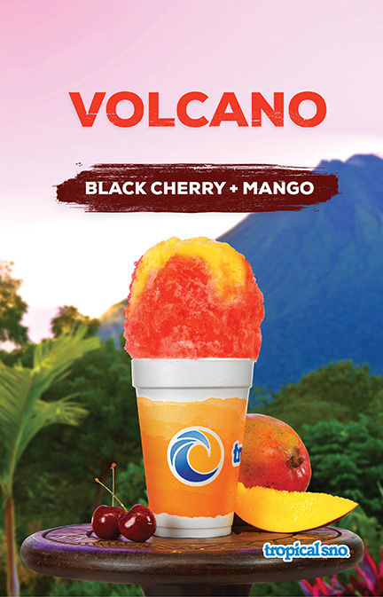 Tropical Sno Volcano Poster Design By Alexander Hofstetter