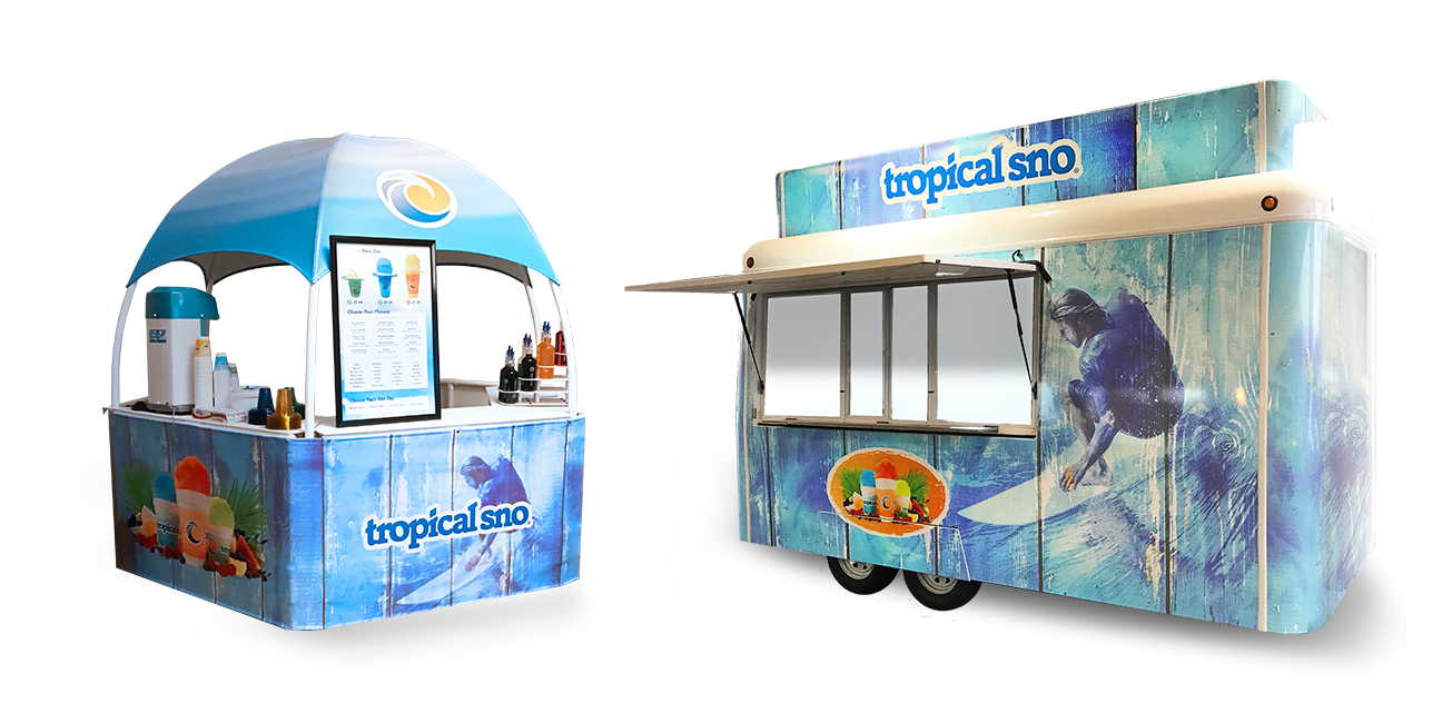 Tropical Sno Kiosk and Graphic Wrap Graphic Design By Alexander Hofstetter