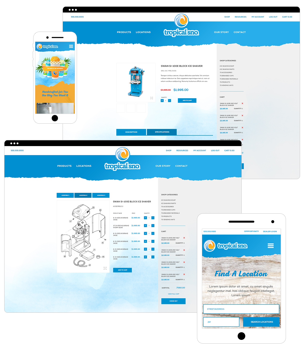 Tropical Sno Responsive Website Design By Alexander Hofstetter