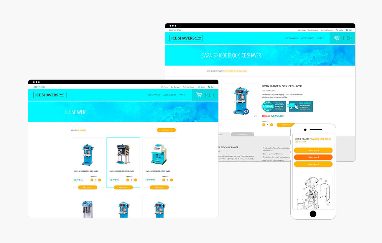 Iceshavers.com Responsive E-Commerce Website Design By Alexander Hofstetter