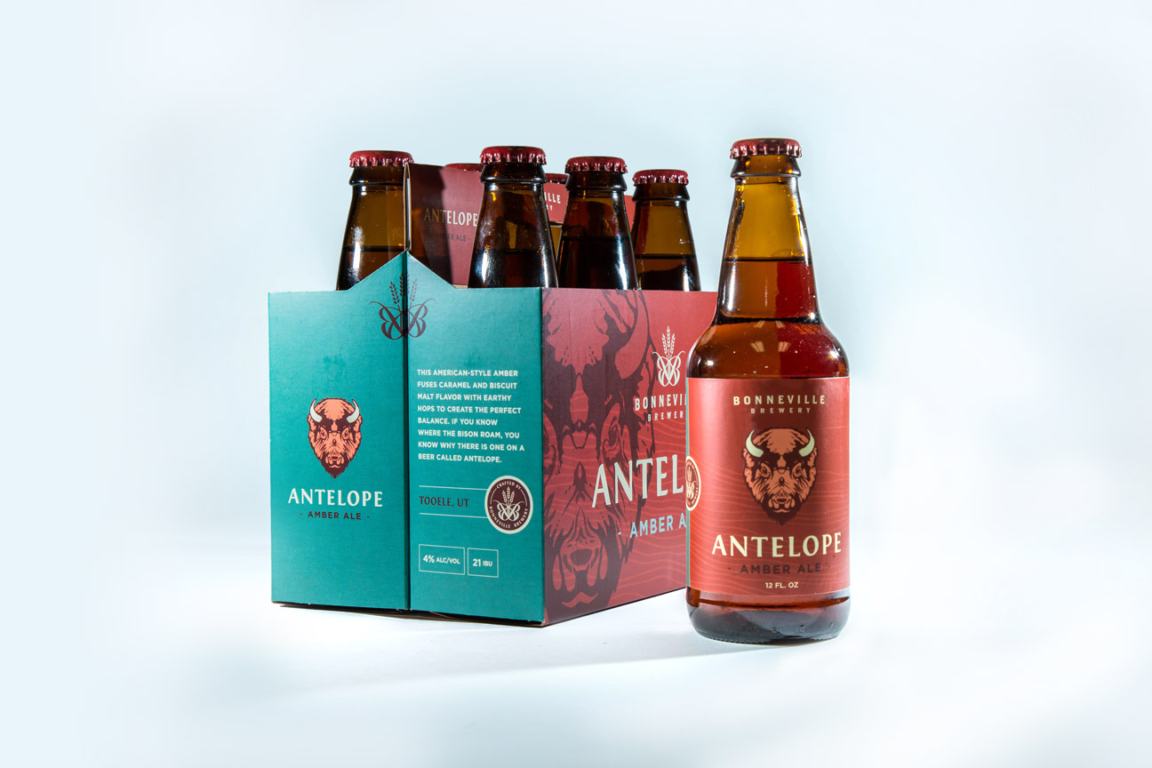 Antelope Amber Bonneville Brewery Package and Label Design By Alexander Hofstetter