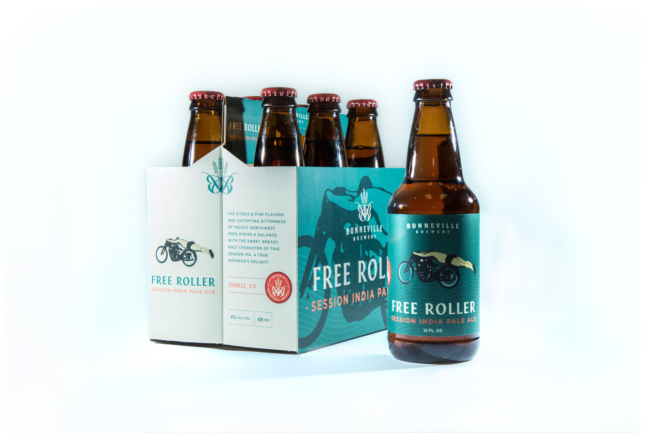 Free Roller Session IPA Bonneville Brewery Label Design By Alexander Hofstetter