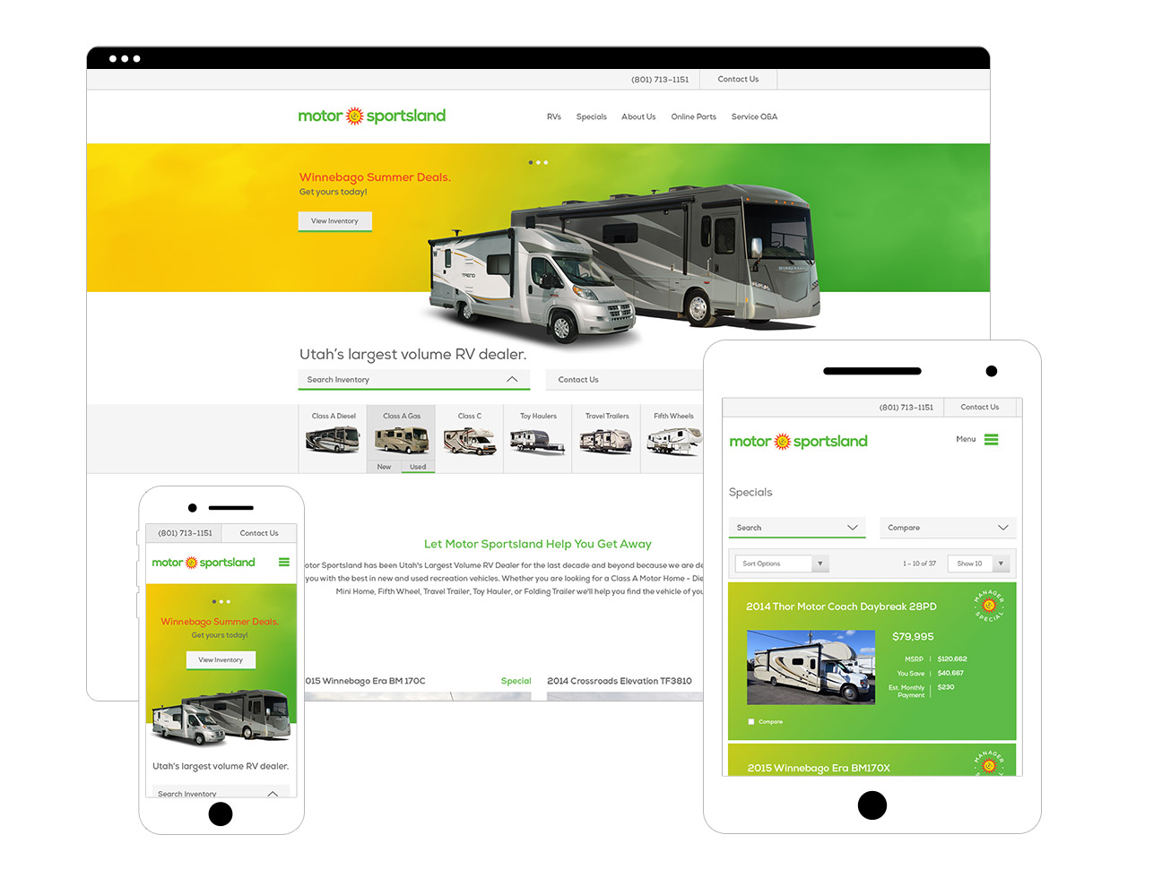 Motor Sportsland E-Commerce Responsive Website Design By Alexander Hofstetter