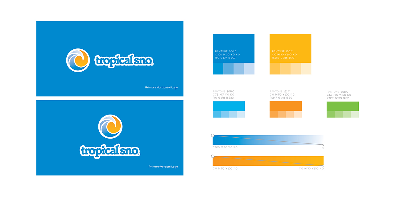 Tropical Sno Logo and Style Guide Design By Alexander Hofstetter
