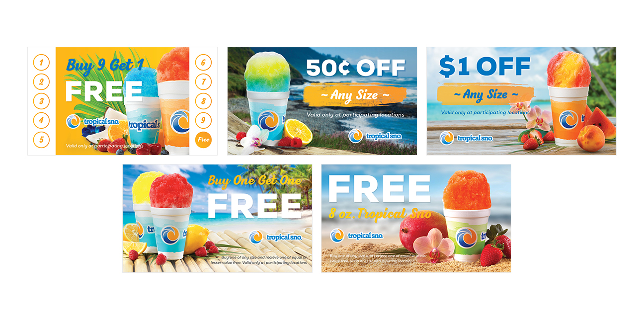 Tropical Sno Coupon Graphic Design By Alexander Hofstetter